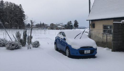 積雪 寒の戻り